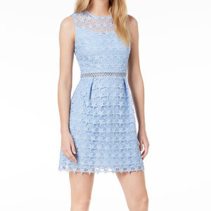 Maison Jules Blue Star Lace Dress Peekaboo Midriff